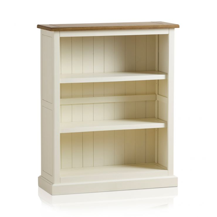 Shutter Brushed Oak and Painted Small Bookcase - Image 8