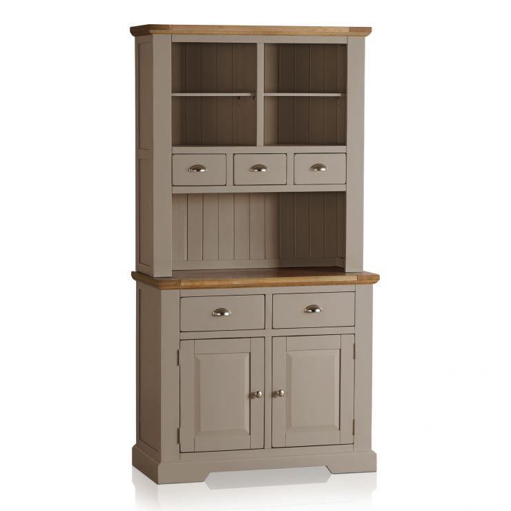 St Ives Natural Oak and Light Grey Painted Small Dresser - Image 5