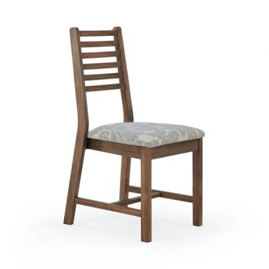 Detroit Patterned Grey Fabric Dining Chair