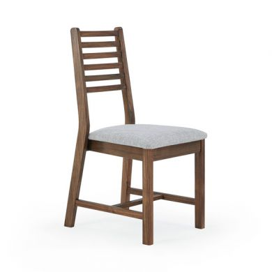 Detroit Plain Grey Fabric Dining Chair