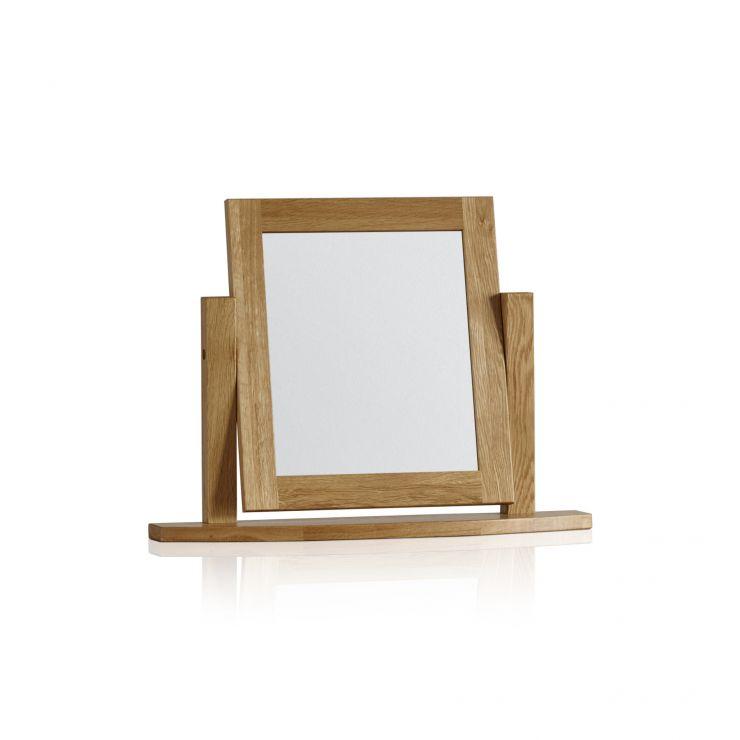 Tokyo Natural Solid Oak Dressing Table Mirror - Image 3