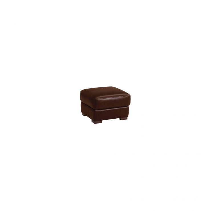 Vision Storage Footstool in Brown Leather