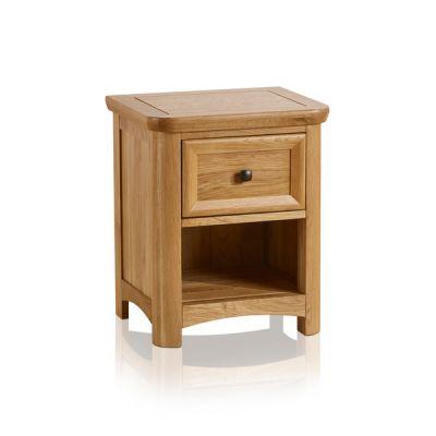 Wiltshire Natural Solid Oak 1 Drawer Bedside Table