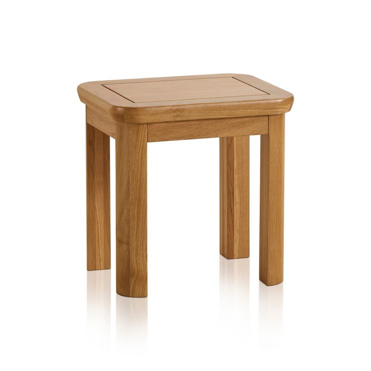Wiltshire Natural Solid Oak Dressing Stool - Image 3