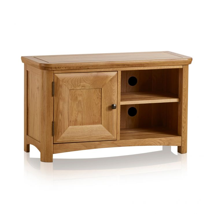 Wiltshire Natural Solid Oak Small TV Unit - Image 1