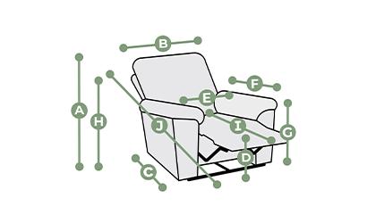 Colorado Electric Recliner Armchair  Dimensions