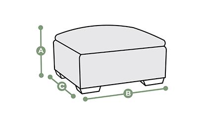Footstool dimensions