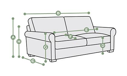Opal 3 Seater Sofa Dimensions