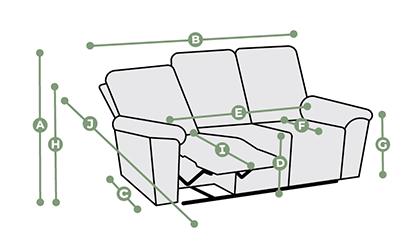 Goodwood 3 Seater Electric Recliner Sofa Dimensions