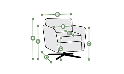 Evie Swivel Chair Dimensions