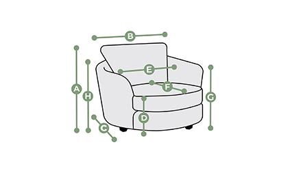 Seattle Swivel Chair Dimensions