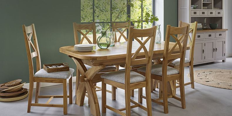 Oak Wooden Dining Table Sets Oak Furnitureland