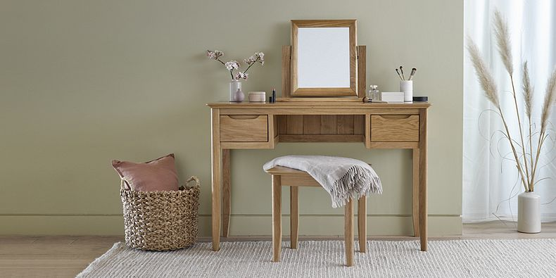 Oak Dressing Tables Wooden Makeup Tables Oakfurnitureland