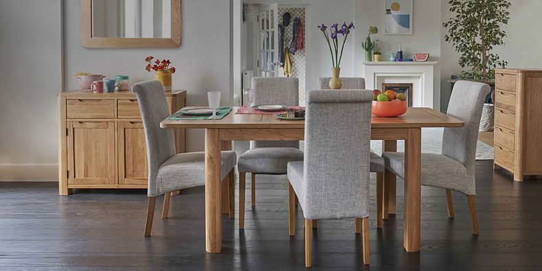 Dining Table And 6 Chairs Small Table Chairs Oak Furnitureland
