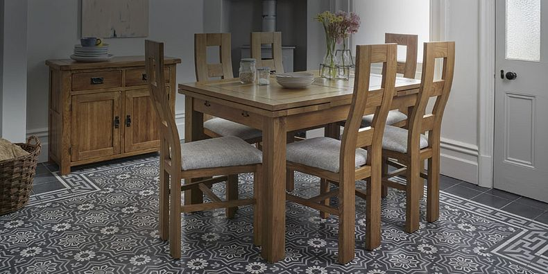 Dining Table 8 Chairs 8 Seater Table Chairs Oak Furnitureland
