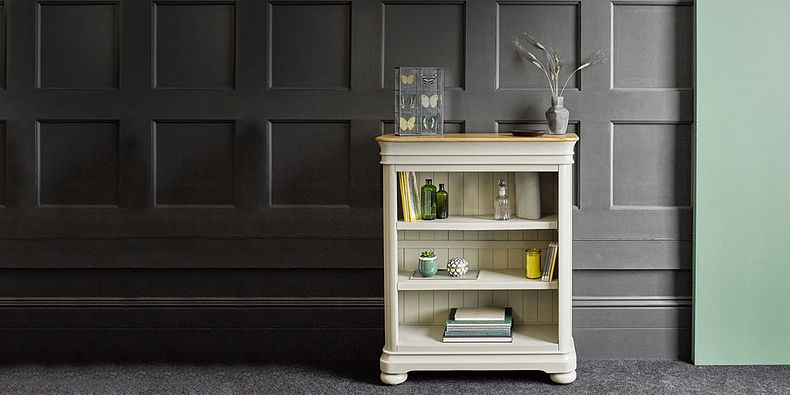 Mango and Painted Bookcases