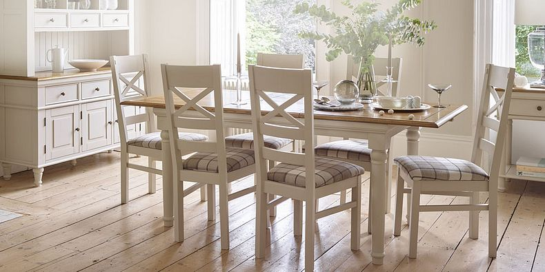 Grass and Painted Dining Chairs