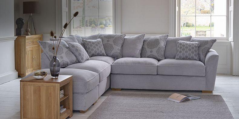 Nebraska Fabric Corner Sofas | Oak Furnitureland
