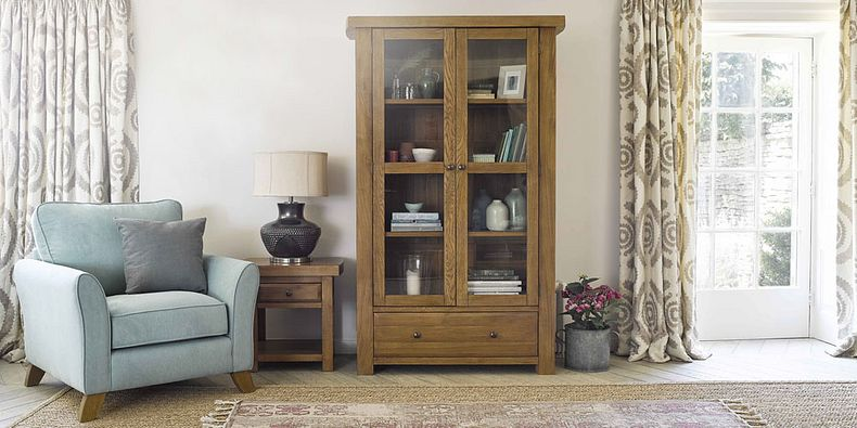 Oak Display Cabinets