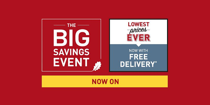 The Big Savings Event / Up to 50% off - Takeover Slide