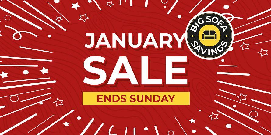 January Sale Ends takeover slide