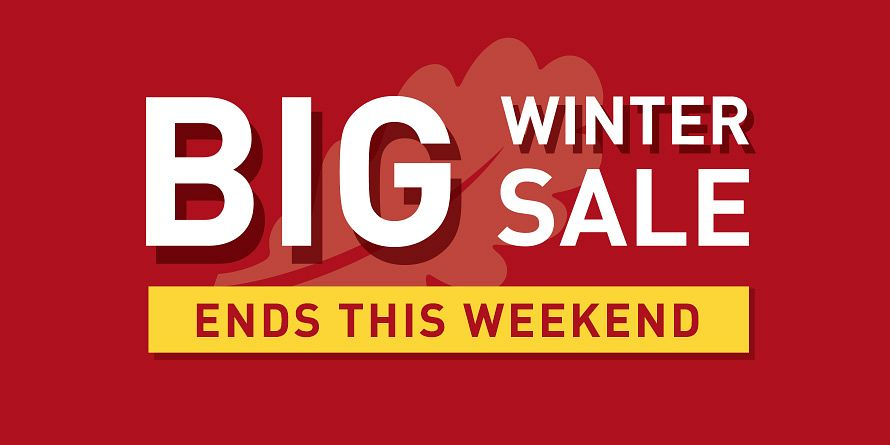 Big Winter Sale Ends - Ends This Weekend