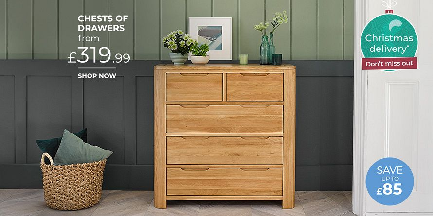 Romsey Natural Solid Oak 2+3 Chest of Drawers