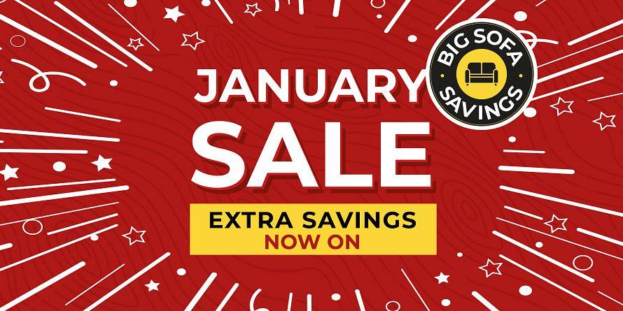January Sale Extra savings takeover slide